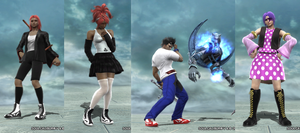 Soul Calibur OC's: flygerXamber Set by RatsuTerra48