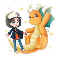 Pokemon Commission DC and Dragonite by Exceru-Hensggott