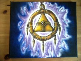 Drawing a Sennen Ring on canvas (3) by Zetsus1stfangirl