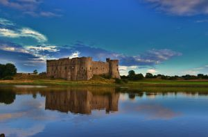 Carew Castle in Pembrokeshire by Dom-dom-pop-a-dom