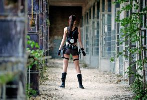 Lara Croft game view by Lena-Lara