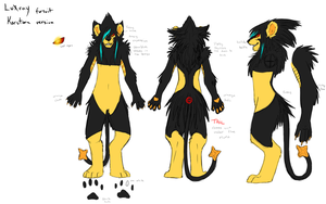 Luxray fursuit ref by LuxuryCat