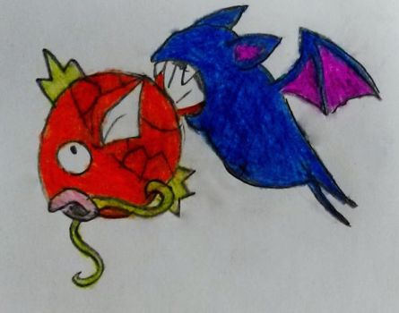 request 161:zubat eating magikarp by s3be