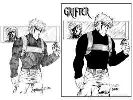 Grifter Inked Process by Cadre