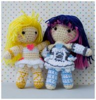 panty and stocking amigurumi by pirateluv