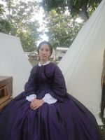 Purple Silk Gown Seated by Lady-Lovelace