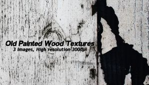3 Free Old Painted Wood Textures, High-res by designerfied