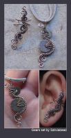 Steampunk ear cuff and pendant by bodaszilvia