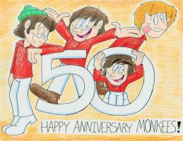 The Monkees 50th Anniversary by IrishBecky