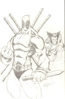 deadpool vs wolverine by charlessimpson