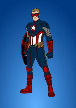 Captain America - Redesign by Comicbookguy54321