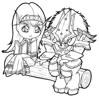 World of Warcraft Commission by Chibivi-Linearts