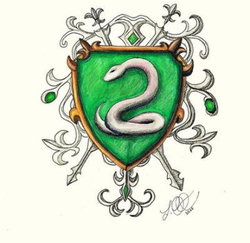 Slytherin Sketch by Schoerie