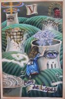 five of cups alice tarot by cannibol