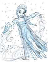 Elsa sketch 2 by tombancroft