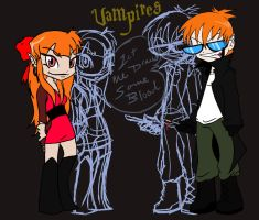 Dexter and Blossom VAMPIRES by Uniqueluv4art