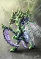 Scyther by Dragolisco