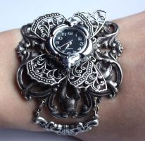 Butterfly Stemapunk Watch by Pinkabsinthe