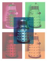 Doctor Who: Pop Art Daleks by SontaranCyberman