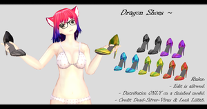 [MMD] Dragon Shoes DL ~ by o-DSV-o