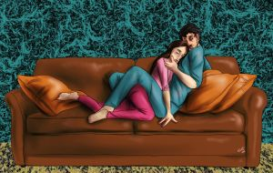 Hannibal - Will and Abigail on the couch by FuriarossaAndMimma