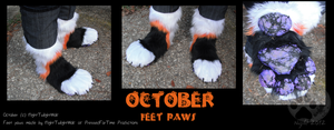 October feet paws by NightTwilightWolf