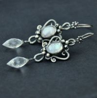 Moon spell - earrings by Eire-handmade