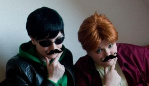 YJ: Dick and Wally 7 - MUSTACHE!! by Nami06