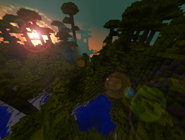Minecraft | Morning in the Jungle by Anthephiel