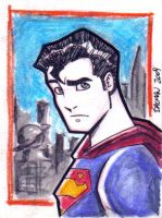 Superman Sketchcard by kennydalman