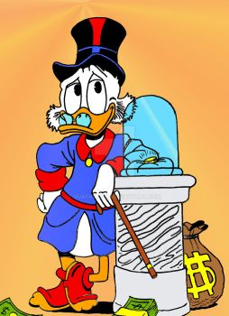 Scrooge McDuck's lucky dime by Quackmore