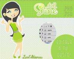 Shine Doll .psd .png by LuuEditionss