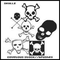 brushes +  skullz by covetous-stock