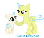 Mom and filly MLP Base by Pastel-Pocky