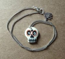 Sugar Skull - Red by Amy221B