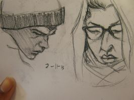 sketches of people on the train by jaiquanfayson