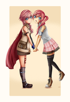 FFXIII:Lightning and Serah by Regoli