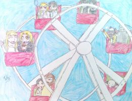 Ferris Wheel by caged-birds