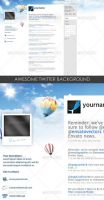 Twitter Background by DOMDESIGN