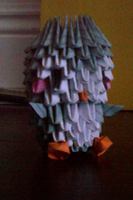 3D Origami Baby Penguin by LuvYen101