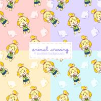 4 Animal Crossing Isabelle Backgrounds by everfae