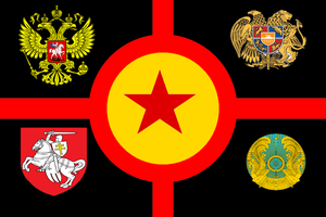 Eurasion Union alternate flag by Ivanmapping