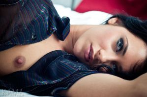 Agnessa on the Bed III by Kama-Photography