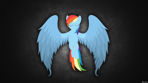 Rainbow dash - Angel Wallpaper by oX-Deso-Xo