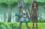 Wayna And Lucario by wasfight17