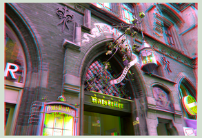 Ratskeller 3D ::: HDR Anaglyph Stereoscopy by zour