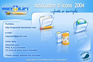 AzulLustre icons 2004 by Mayosoft
