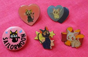 Assorted Sailor Moon Cat Pins - FOR SALE by onsenmochi