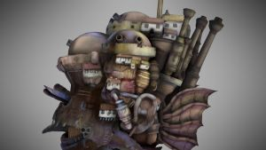 'Howls Moving Castle' in 3D - Close up Side by RedOfPaw