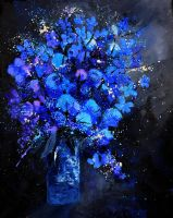 Blue Still Life 4561 by pledent